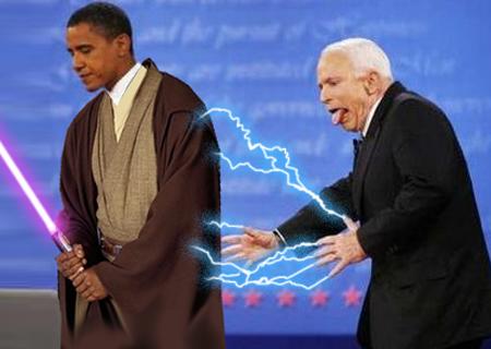 Mace Obama vs. Emperor McPalpatine