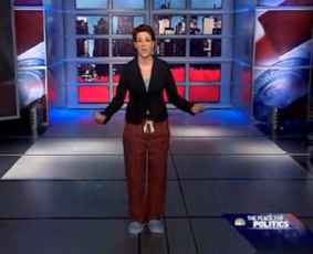"""Rachel Maddow: """"'real media' in suits ... and bloggers in pajamas!"""""""