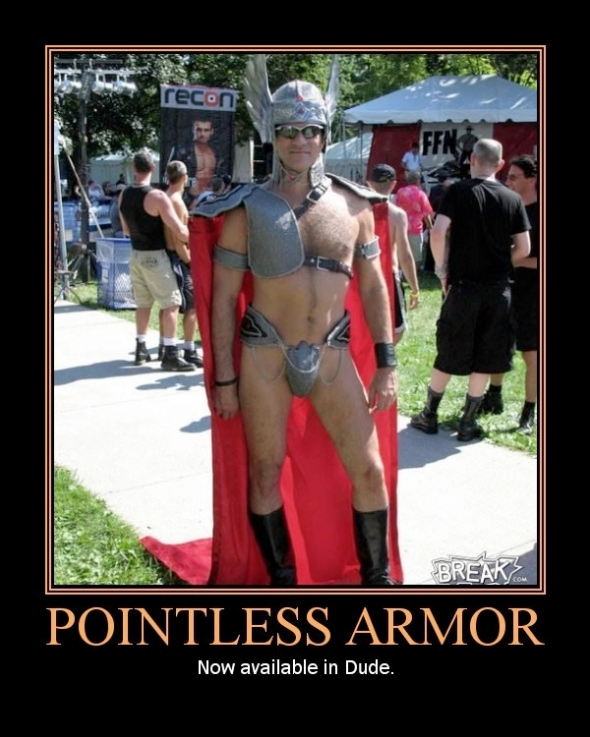 Pointless Armor in Dude