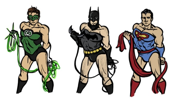 If Male Superheroes Posed Like Wonder Woman
